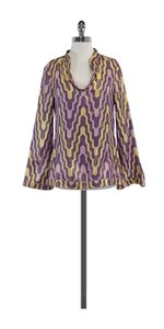 Tory Burch Gold Geo Print Tunic