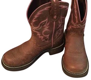 Justin Brown/pink Boots