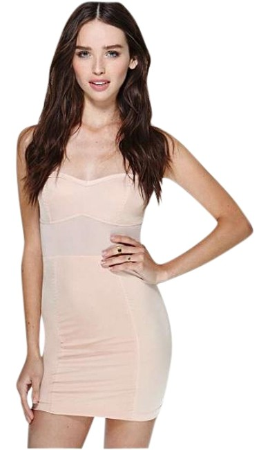 Item - Nude Mini Night Out Dress Size 4 (S)