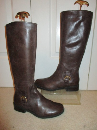 Me Too Leather Riding brown Boots Image 1