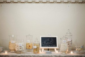 Assortments Of Glass Candy Buffet Table Containers