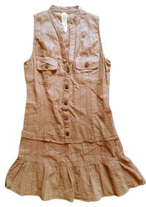 short dress Light Brown on Tradesy