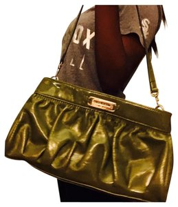 Nine West Clutch/ shoulder purse Olive Green Clutch