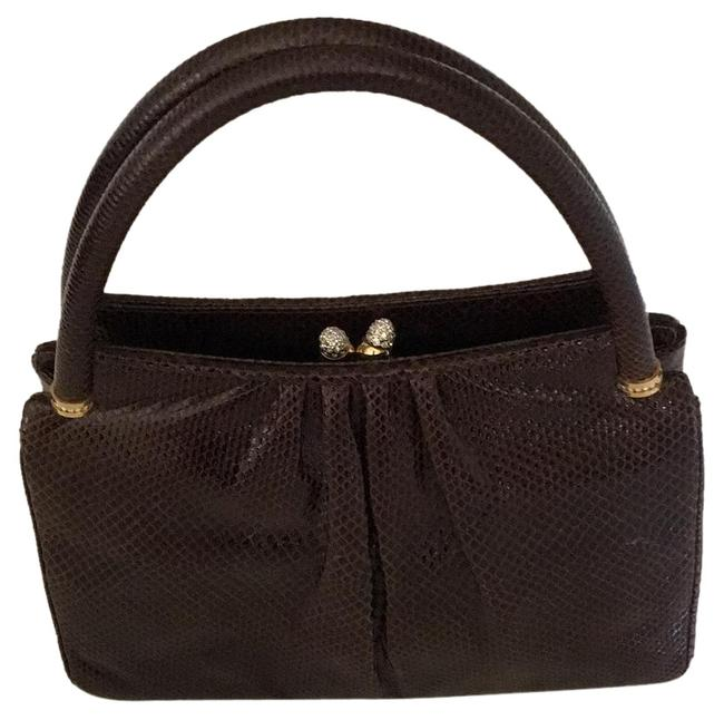 Item - A Brown Leather Clutch