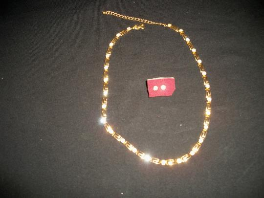 Silver Co Clear Crystals Necklace with Earrings Set Image 2