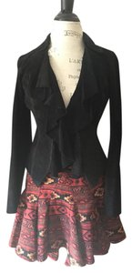 Ideology Suede Extra Small Crop Black Blazer