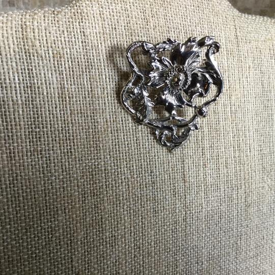 Other Sterling Silver Poppy Pin Image 1