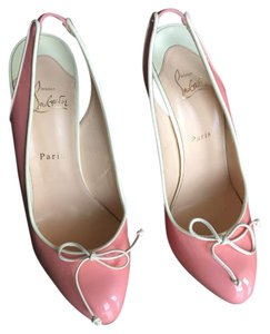 Christian Louboutin Pink/Cream Pumps