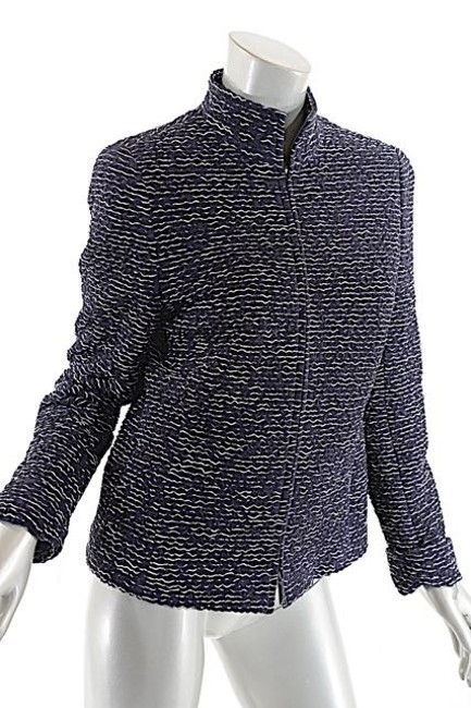Akris Crinkle Quilted Silk Black & White Blazer Image 5
