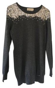 Michael Kors Silver Sequins Holiday Sweater