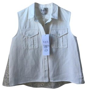 Sea New York Button Down Shirt Cream