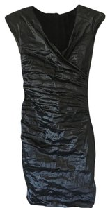 Nicole Miller Cocktail Gunmetal Dress