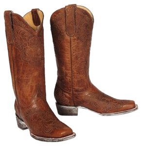 Old Gringo Cowboy Embroidered Distressed Cowgirl Western Brown Multi Boots