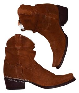 Old Gringo Og New Leather Ankle Cowboy Cowgirl Bohemian Festival Brown Boots
