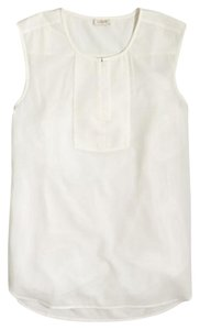 J.Crew J Crew Tunic Silky Top White