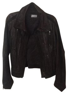 Please by LF Dark Gray Leather Jacket
