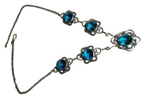 Silver Co. Aqua Blue Topaz Silver Necklace