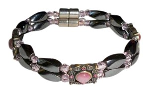 Amy's Treasure Box Cat's Eye Double Magnetic Hematite Bracelet