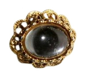 Amy's Treasure Box Clear Stone Vintage Adjustable Ring