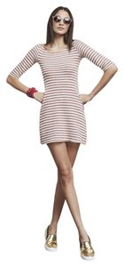 Reformation short dress White and Red stripes on Tradesy
