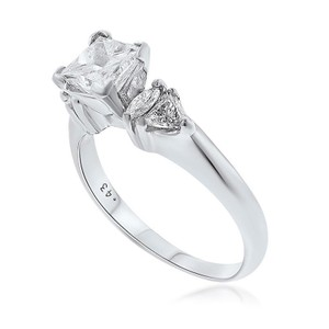 Platinum Engagement Ring With 2.11 Tkw