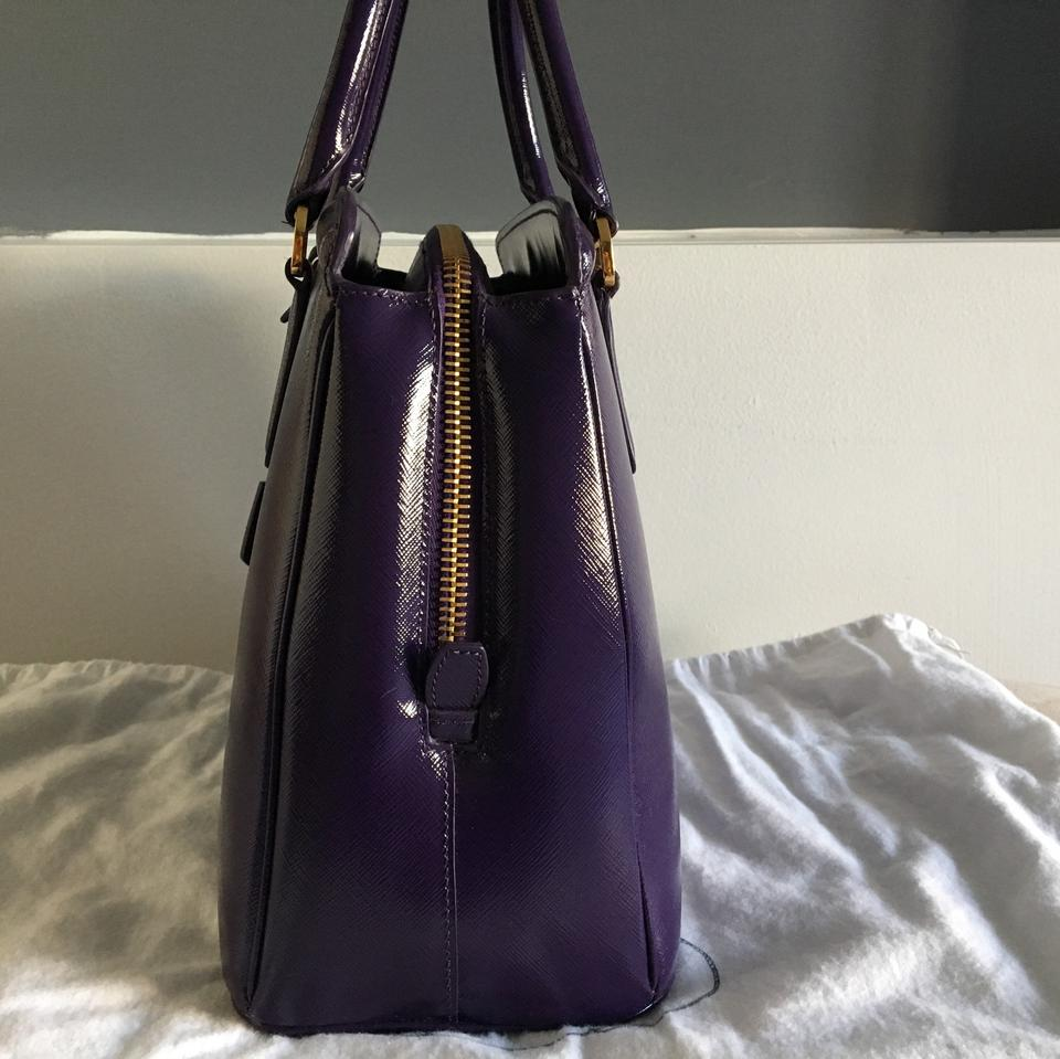 Prada Purple Satchel Viola Saffiano Lux Leather Vernice qr6q71wx
