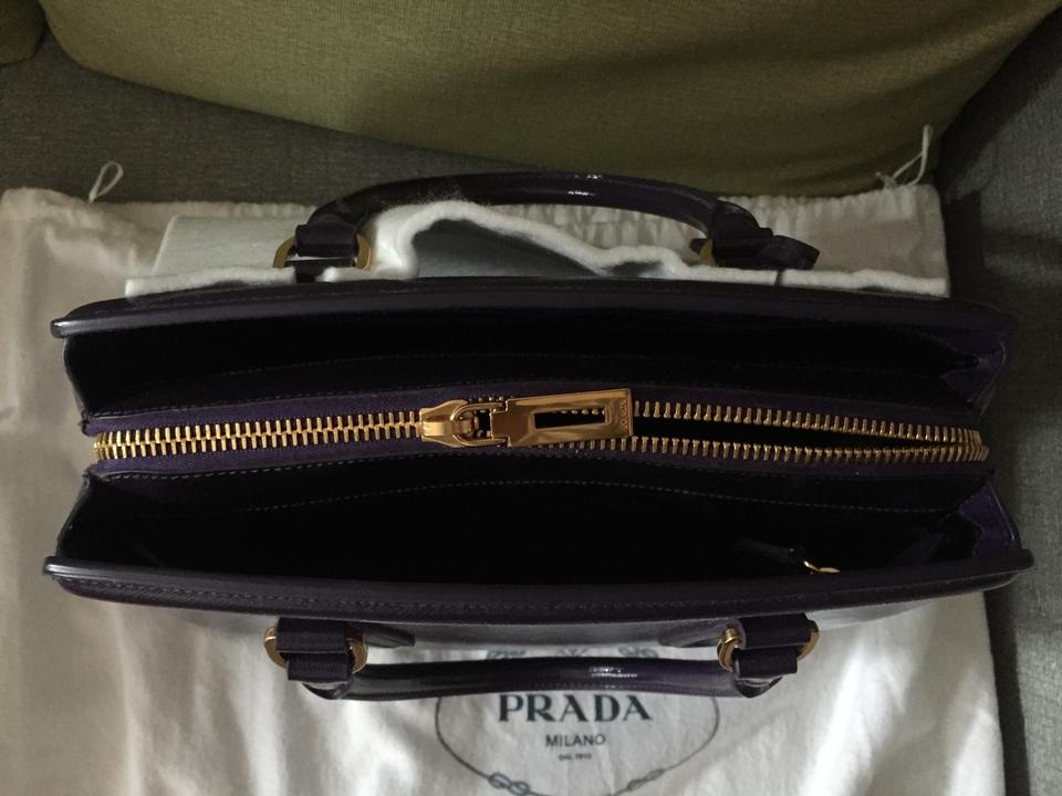 Prada Purple Saffiano Viola Satchel Vernice Leather Lux qqZprRf