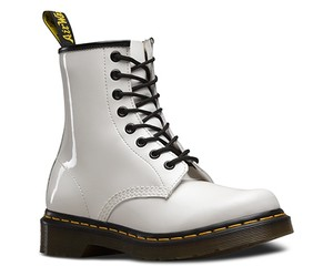 Dr. Martens Leather white Boots
