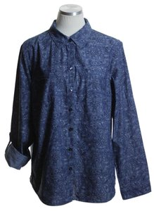 Croft & Barrow Button Down Shirt Blue