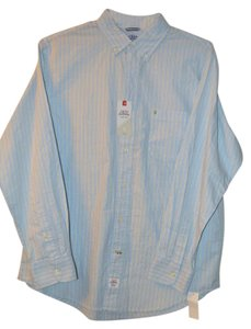 Izod Button Down Shirt Light Blue