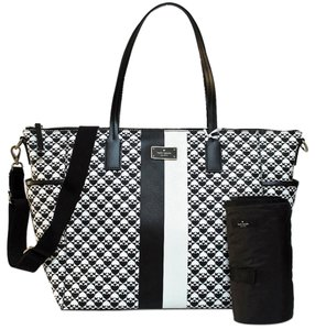 Kate Spade New With Tags Black & White Diaper Bag