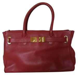 Onna Ehrlich Leather Satchel in Red