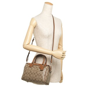 Coach Mini Leather Purse Satchel in khaki saddle