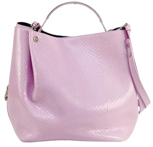 Dior Tote in Pink, Silver