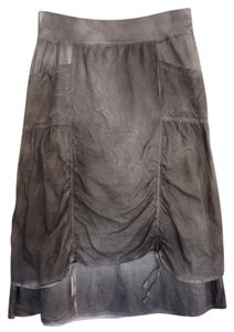 XCVI Ruched Size 10 Size 12 Machine Washable Skirt Gray