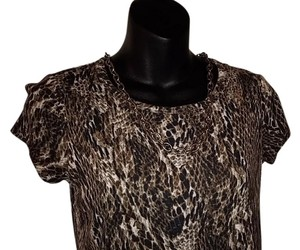 Simply Vera Vera Wang Top Brown print