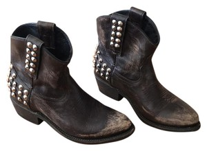 Ash Studded Leather Bootie Boots