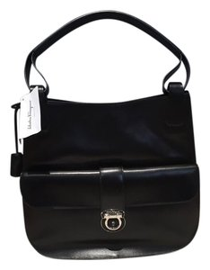 Salvatore Ferragamo Leather Hobo Shoulder Bag