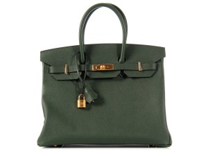 Hermès Hr.k0923.13 Green Epsom Leather Ghw Satchel