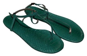 Avec Moderation Green Sandals