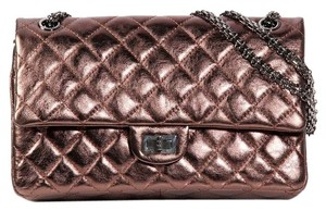 Chanel Metallic Quilted Ch.k0921.07 Brown Shoulder Bag