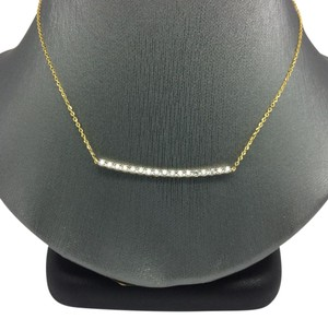 Other 14K Yellow Gold Diamond Bar Necklace