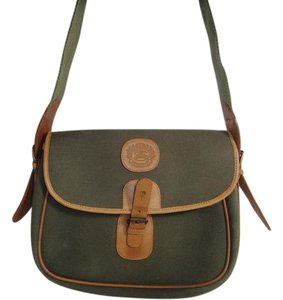Burberry Satchel in Olive Green