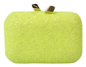 Kotur Sequin Neon Chain Mini Neon Green Clutch