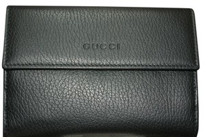 Gucci NIB GUCCI BLACK LEATHER WALLET MADE IN ITALY