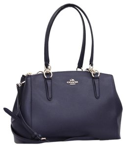 Coach Crossgrain Carryall Crossbody Satchel in midnight navy