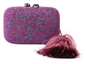 Kotur Chain Mini Tassle Purple Clutch