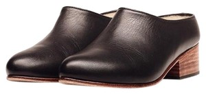 Nisolo Slip On Leather Ethically Produced Black Mules