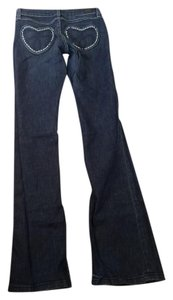 Juicy Couture Studded Boot Cut Jeans-Dark Rinse