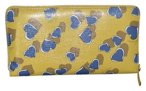 Gucci NIB GUCCI WOMENS HEART GG ZIP AROUND LEATHER WALLET CLUT